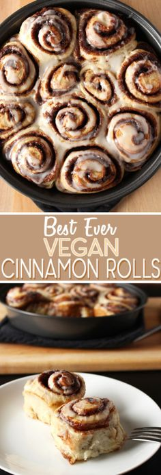 Ever Vegan Cinnamon Rolls - Sweet Like Cocoa Seriously the best cinnamon buns ever! Super easy to make and vegan too!Seriously the best cinnamon buns ever! Super easy to make and vegan too! Vegan Treats, Vegan Foods, Vegan Dishes, Vegan Coffee Cakes, Dessert Oreo, Vegan Cinnamon Rolls, Cinammon Rolls, Cinnamon Bread, Le Cacao