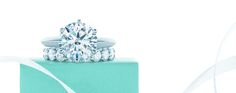tiffany & co. engagement and wedding ring.