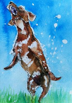 Singing Mutt Day 13 of 30 Paintings In 30 Days - Lillian Connelly #art #Watercolor