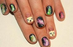 Diseños de uñas XV años, diseno de uñas de xv años con animales. Clic Follow, Join to CLUB! #diseñatusuñas #decoratednails #uñassencillas