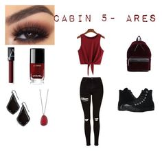 """""""Daughter of Ares casual outfit"""" by dauntlessapollokid on Polyvore featuring Topshop, Converse, Anastasia Beverly Hills, NARS Cosmetics, Chanel, Yves Saint Laurent and Kendra Scott"""