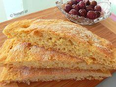 Kitchen Stories: Ciabatta No-Knead Bread Greek Bread, Croissant Donut, No Knead Bread, Kitchen Stories, Ciabatta, Croissants, Greek Recipes, Donuts, Sandwiches