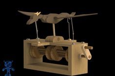 Flying Dragon Wooden Toy - GrabCAD