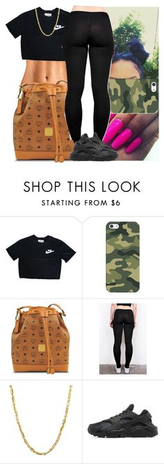 """Trillest in the game"" by msixo ❤ liked on Polyvore featuring Casetify, MCM, Everlasting Gold and NIKE"