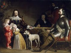 ⍕ Paintings of People & Pets ⍕ Daniel Maclise | An Interview between Charles I and Oliver Cromwell