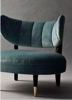 Rue side chair with green velvet upholstery / lounge chair seating Luxury Furniture, Home Furniture, Modern Furniture, Furniture Design, Futuristic Furniture, Plywood Furniture, Furniture Ideas, Refurbished Furniture, Upholstered Furniture