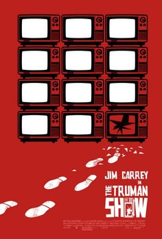 An alternative movie poster for the film The Truman Show, created by Hesir, featured on AMP Best Movie Posters, Minimal Movie Posters, Minimal Poster, Cinema Posters, Movie Poster Art, Poster S, Cool Posters, Poster Marvel, Pulp Fiction