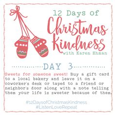 12 Days of Christmas Kindness - Day Three