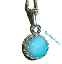 Sterling Silver necklaceAqua Blue Amazonite by JewelrybyDecember67, $38.00