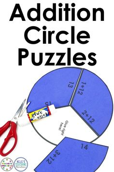 Basic math adding fact practice can be engaging, hands-on, and fun with this great addition download. Work on facts 7, 8, 9, 10, 11, & 12 with your 1st or 2nd grade classroom or homeschool students. These puzzle pies are great for math centers, stations, review, test prep, early or fast finishers, even homework, or a first or second graders math night with parents & families! Click through to check out the FREE preview and see these puzzles in action!  #Addition #1stGrade #2ndGrade #Math