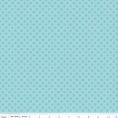 Small Dots in Tone on Tone Aqua - Riley Blake House Designer - Cotton Dots