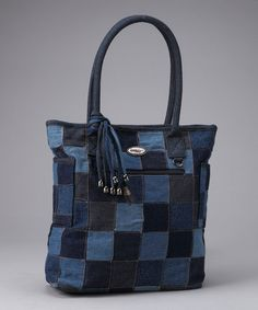 Take a look at this Denim Patch Tammy Tote by Donna Sharp on #zulily today!