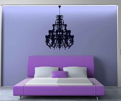 Ornate, Decorative, Old World Chandelier - Decal, Sticker, Vinyl, Wall, Home, Office, Bedroom Decor