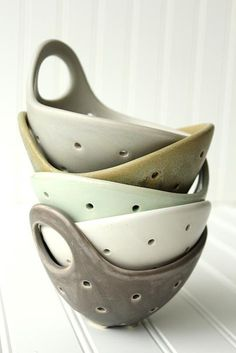 Fringe and Fettle Ceramics berry strainers