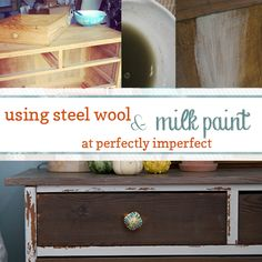 Grain Sack Milk Paint Chest of Drawers | perfectly imperfect