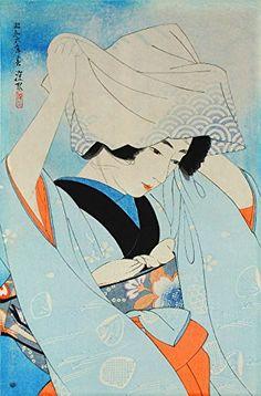 "Japanese Art Print ""Seashell Gathering"" by Ito Shinsui. Shin Hanga and Art Reproductions http://www.amazon.com/dp/B00WWNWOYI/ref=cm_sw_r_pi_dp_SMyswb1BJ2V64"