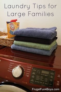 Laundry Tips for Large Families - Simple ideas for making this chore a little easier!