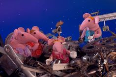 Afternoon tea with the Iron Chicken!   #clangers