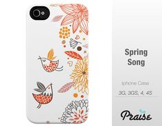 Spring Song iPhone Case Iphone 5 Iphone 4/4S/3GS by PraiseDesign, $45.00