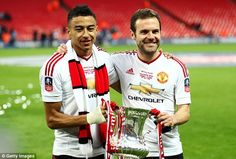Paul Pogba and Jesse Lingard are football's blossoming bromance Manchester City, Manchester United, College Basketball, Soccer, Jesse Lingard, Paul Pogba, Football S, Old Trafford, European Football