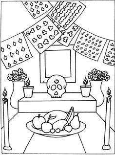 Dibujos para colorear, Dia de muertos II