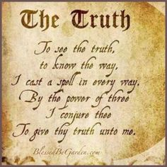 Truth spell | SPELLS/BLESSINGS/CHANTS/CHARMS