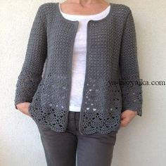 Women Crochet Cardigan/Gray Crochet Jacked/Crochet Cotton Cardigan/Gray Cotton Crochet Cardigan Women Le donne Crochet Cardigan/Gray Crochet Jacked/uncinetto cotone Always aspired to learn how to knit, although uncertain h. Gilet Crochet, Crochet Cardigan Pattern, Vest Pattern, Crochet Jacket, Crochet Blouse, Crochet Poncho, Cotton Crochet, Crochet Patterns, Cardigan Gris
