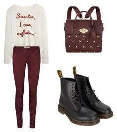 Red and White by tania-alves on Polyvore featuring polyvore, fashion, style, Vero Moda, Dr. Martens, Mulberry and clothing
