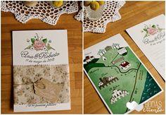 Invitaciones de boda campestre Bodas de Cuento the Wedding Designers, por Srta. Edwina. Foto Sara Lázaro