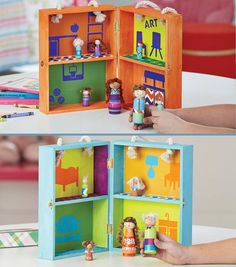 DIY Wooden Dollhouse and Schoolhouse from We Made It by Jennifer Garner