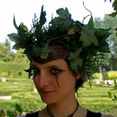 READY TO SHIP green headpiece faery tales by ChimericalDragonfly