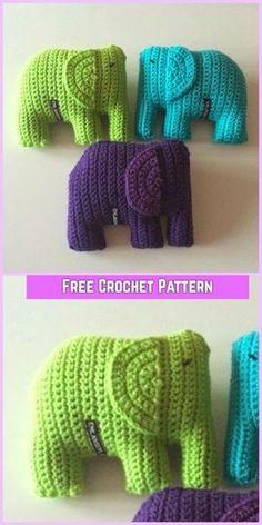 Crochet Elephant Amigurumi Free Pattern - crochet Gosefant free pattern