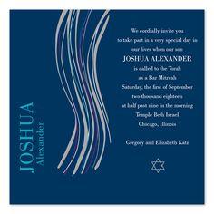 Squared Away - Bar Mitzvah Invitations by Invitation tallit