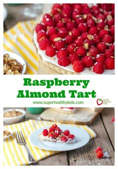 Raspberry Almond Tart - You won't believe how easy this beautiful dessert is! http://www.superhealthykids.com/raspberry-almond-tart/