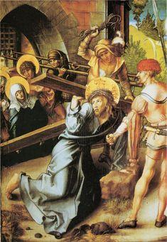 Albrecht Dürer : The Seven Sorrows of the Virgin, Scene : Via Crucis (Alte Pinakothek) アルブレヒト・デューラー Religious Paintings, Religious Art, Albrecht Durer, Art Sur Toile, Most Famous Artists, High Renaissance, Landsknecht, Photo D Art, Reproduction
