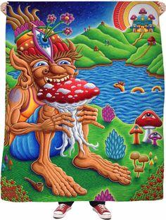 Muncher of Mushroomland Fleece Blanket