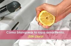 Cómo blanquear la ropa amarillenta. ¡SIN cloro! Grapefruit, Household, Tips, Youtube, Food, Pastel, Cleaning, Remove Yellow Stains, Essen