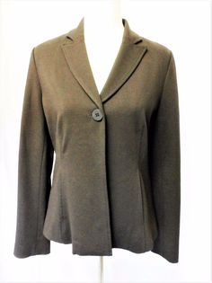 NWOT 258$ EILEEN FISHER sz PM WOODLAND JERSEY FITTED JACKET  #EileenFisherPetite #BasicJacket #Casual