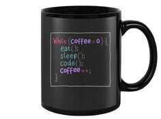 Eat, Sleep, Code, and Coffee