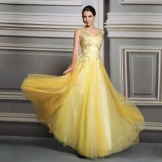 Find More Prom Dresses Information about 2015 long elegant yellow prom dresses lace beautiful graduation dresses with indian design Sequined ball gown,High Quality lace silk wedding dresses,China dresses middle aged women Suppliers, Cheap lace tube dress from Shenzhen LZB Led Lighting Company on Aliexpress.com