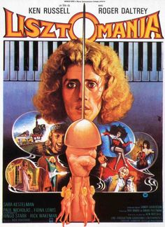 "MP563. ""Listzomania"" Belgium Movie Poster by Jean Mascii (Ken Russell 1975) / #Movieposter"