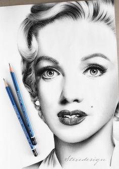 Marilyn Monroe Pencil Drawing by StevedesignStudio on DeviantArt Marilyn Monroe Dibujo, Marilyn Monroe Drawing, Marilyn Monroe And Audrey Hepburn, Marilyn Monroe Artwork, Marylin Monroe, Drawing Techniques Pencil, Colored Pencil Techniques, Unique Drawings, People