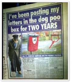 Poor guy - Man posts letters into a dog poo disposal box for two years
