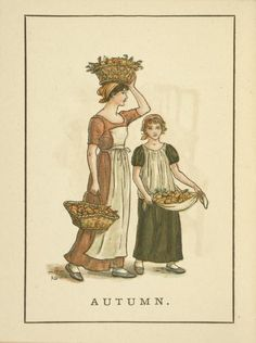 Autumn - Kate Greenaway's Almanack for 1894