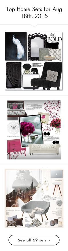 """Top Home Sets for Aug 18th, 2015"" by polyvore ❤ liked on Polyvore featuring interior, interiors, interior design, home, home decor, interior decorating, Mitchell Gold + Bob Williams, Ethan Allen, Diane James and The Elephant Family"