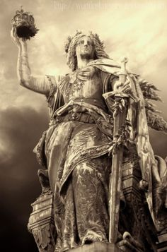 statue of war at the Niederwalddenkmal, Rüdesheim, Germany. Fullsize view for details. (You are NOT ALLOWED to use my pictures without my permission! German Mythology, War Tattoo, Google Art Project, Vikings, Art Google, Art And Architecture, Germany, Deviantart, Statue