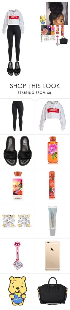 """""""~ pull up ~"""" by foodislyfe ❤ liked on Polyvore featuring NIKE, Dimepiece, Ariella, Puma, Anita Ko, Maybelline and Givenchy"""