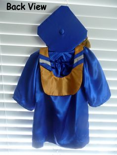 Baby and Toddler Masters Graduation HOOD ONLY to compliment Cap and Gown Outfits (0-11mo, 12-23mo, 2T-3T). $18.50, via Etsy.