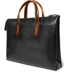 <a href='http://www.mrporter.com/mens/Designers/Berluti'>Berluti</a>'s 'Perspective Moderniste' briefcase is a masterclass in considered design. The piece has a flat base but fastens with a zip at the top, making it sleek and compact when closed but opening to reveal plentiful compartments and pockets. It has been carefully crafted in Italy using supple Venezia leather polished in the label's signature way to create a deep...