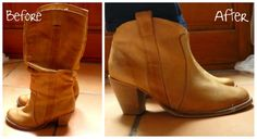 DIY ankle boots, quick and easy.